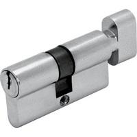 Цилиндр DIN ключ/завертка (30+30) S 60 Gr хром Шлосс