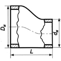 Переход эксцентрический 09Г2С 38х3-25х3 ГОСТ 17378