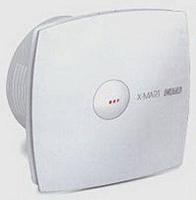 Вентилятор осевой 190 куб.м/час 25 Вт 230В настенный (диам.шахты 118мм) автоматические жалюзи, белый, серия X-Mart