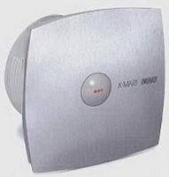 Вентилятор осевой 190 куб.м/час 25 Вт 230В настенный (диам.шахты 118мм) автомат.жалюзи, цвет нержавеющая сталь, серия X-Mart