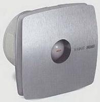 Вентилятор осевой 190 куб.м/час 25 Вт 230В настенный (диам.шахты 118мм) цвет нержавеющая сталь, серия X-Mart