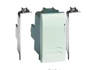 Выключатель, типа кнопка белый, 1 модуля