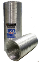 Воздуховод алюминиевый гофрированный D=100, L= 3 м.