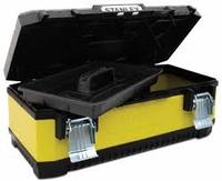 Ящик для инструментов 23 металлопластиковый, жёлтый