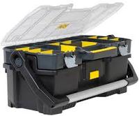 Ящик для инструментов 24 открытый профессиональный пластмассовый со съемным органайзером