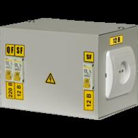 Ящик с понижающим тр-ом ЯТП-0,25 220/12 В 0,25кВА, 2х1ф. автомата, розетка