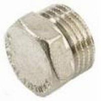 Заглушка 1/2 НР латунь/никель GF (уп.10 шт.)